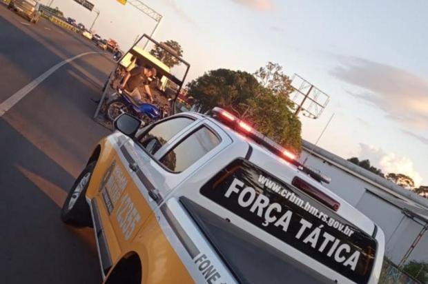 Comando Rodoviário da Brigada Militar apreende motocicleta com quase R$ 60 mil em multas Divulgação / CRBM/CRBM